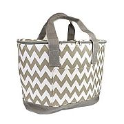 Gray Chevron Insulated Cooler Bag                      #SW-CS3504GRAY