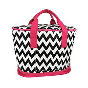 Pink & Black Chevron Insulated Cooler Bag             #SW-CS3504PNKBLK