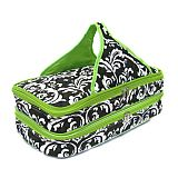 Green Damask Quilted Double Casserole Carrier     #SW-GreenDamask