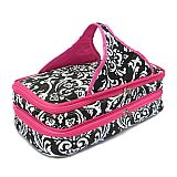 Pink Damask Quilted Double Casserole Carrier        #SW-PinkDamaskQuilt