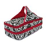 Red Damask Quilted Double Casserole Carrier       SW-RedDamask