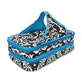 Blue Damask Quilted Double Casserole Carrier       #SW-BlueDamaskQuilted