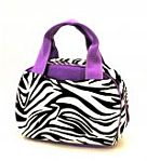 Purple Zebra Lunch Bag