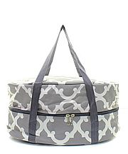 Gray & White Design Crock Pot Carrier                   #TTIW-RMK659GRY
