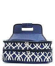 Navy & White Double Food Carrier                    #TTIW-BIQ391NVY