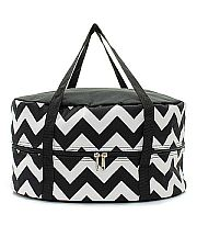 Black & White Chevron Crock Pot Carrier                #TTIW-CV659BLK