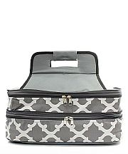 Gray Quatrefoil Double Food Carrier                  #TTIW-OTG391GRY