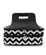 Black Chevron Double Food Carrier                #TTIW-ZIB391BLK