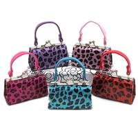 12 Glitter Leopard Mini Purses