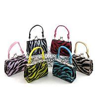 12 Mini Glitter Zebra Purses