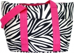 Pink Zebra Insulated Bag