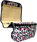 Pink Leopard Cosmetic Bag