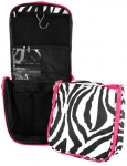 Pink Zebra Travel Case