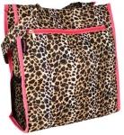 Pink Trim Leopard Tote