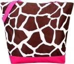 Pink Giraffe Tote Bag