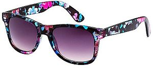 New Blue & Pink Purple Lens Floral Summer Sunglasses #PLENS