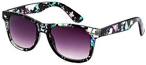 New Green & Pink Purple Lens Floral Summer Sunglasses #GRPLENS
