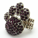 Purple Paw Print Ring