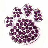 Purple Paw Print Pin