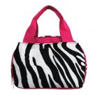 Pink Zebra Lunch Bag