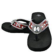 Isabella Red Round Flip Flops                     #WWD-redroundS018