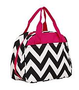 Pink & Black Chevron Insulated Lunch Bag