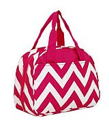 Hot Pink Chevron Insulated Lunch Bag