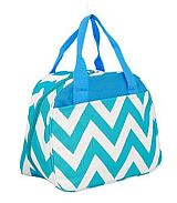 Turquoise Chevron Insulated Lunch Bag