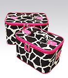 2 Pink Giraffe Beauty Cases