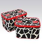 2 Red Giraffe Beauty Cases