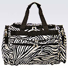 Black Zebra Duffel Bag