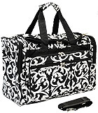 Black Damask Duffel Bag