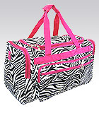 Pink Zebra Duffel Bag