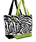 Zebra Print Shopping Bags