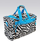 Blue Zebra Duffel Bag