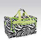 Green Zebra Duffel Bag