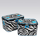 2 Blue Zebra Beauty Cases