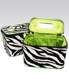 2 Zebra Cases Green Inside