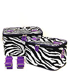 2 Purple Zebra Beauty Cases