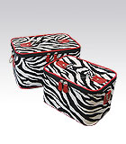 2 Red Zebra Beauty Cases