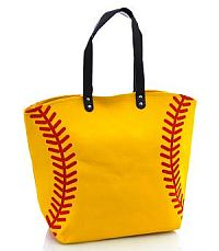 Large Softball Tote Bag     #YKTW-softball