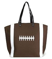Large Football Tote Bag   #YKTW-BR