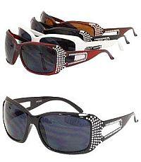 Rhinestone Cutout Sides Sunglasses          #YKT-SUND1815RS