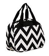 Black Chevron Insulated Lunch Bag