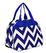 Blue Chevron Insulated Lunch Bag