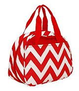 Red Chevron Insulated Lunch Bag