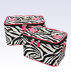 2 Pink Zebra Beauty Cases
