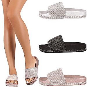 Crystal Bling Slide Sandals      #CRSLIDES