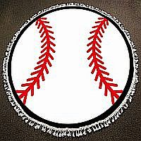 Round Baseball Blanket or Beach Throw      #WT-B
