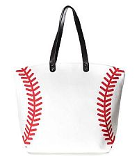 Large Baseball Tote Bag     #YKTW-baseball